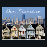 "San Francisco CA Painted Ladies Skyline States Postcard<br><div class=""desc"">Welcome to San Francisco, California! This fun travel postcard features a photo of the infamous Painted Ladies victorian homes with the San Francisco skyline in the background. Travel Postcards are an economical alternative to greeting cards and can be used for many occasions such as: Vacation Souvenirs Business promotional campaigns Greeting...</div>"