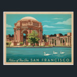 "San Francisco, CA - Palace of Fine Arts Postcard<br><div class=""desc"">Anderson Design Group is an award-winning illustration and design firm in Nashville,  Tennessee. Founder Joel Anderson directs a team of talented artists to create original poster art that looks like classic vintage advertising prints from the 1920s to the 1960s.</div>"
