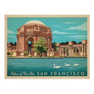San Francisco, CA - palacio de bellas arte Tarjeta Postal