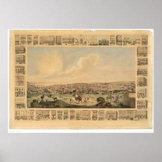 San Francisco, CA. Panoramic Map 1860 (1162A) Poster
