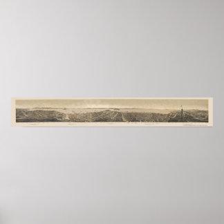 San Francisco, CA Panoramic Map - 1862 Poster