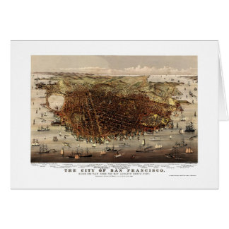 San Francisco, CA Panoramic Map - 1878 Card