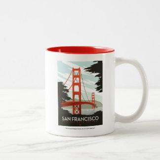 San Francisco, CA - puente Golden Gate Taza De Dos Tonos