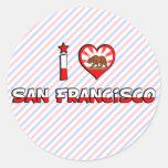 San Francisco, CA Round Sticker