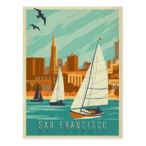 San Francisco, CA - Sailboats Postcard