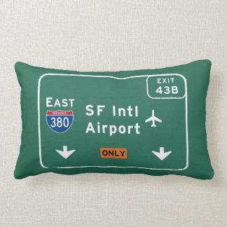 San Francisco CA SFO Airport I-380 E Interstate - Lumbar Pillow