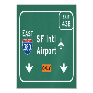 San Francisco CA SFO Airport I-380 E Interstate - Magnetic Card