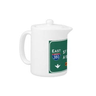 San Francisco CA SFO Airport I-380 E Interstate - Teapot