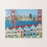 "San Francisco, CA | The City By The Bay Jigsaw Puzzle<br><div class=""desc"">This design features a collage of scenes from San Francisco,  California.</div>"