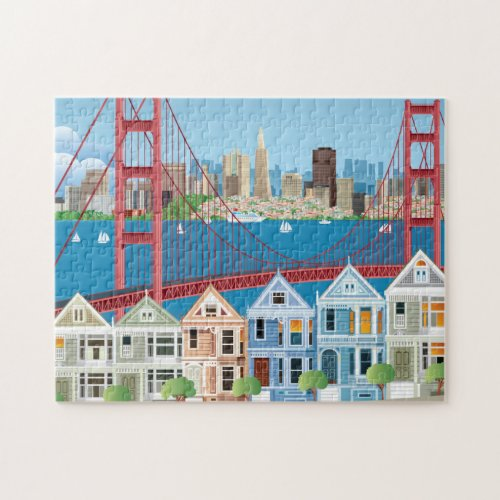 San Francisco CA  The City By The Bay Jigsaw Puzzle