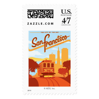 San Francisco, CA - The City by the Bay Postage Stamp