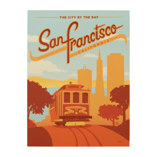 San Francisco, CA - The City by the Bay Wood Wall Decor