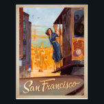 "San Francisco, CA - Trolly Postcard<br><div class=""desc"">Anderson Design Group is an award-winning illustration and design firm in Nashville,  Tennessee. Founder Joel Anderson directs a team of talented artists to create original poster art that looks like classic vintage advertising prints from the 1920s to the 1960s.</div>"