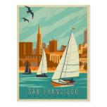 San Francisco, CA - veleros Tarjeta Postal