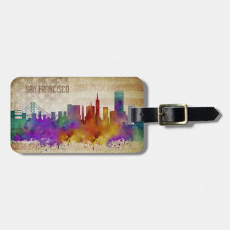 San Francisco, CA | Watercolor City Skyline Bag Tag