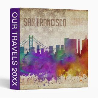 San Francisco, CA | Watercolor City Skyline Binder