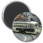 San Francisco Cable Car 2 Inch Round Magnet