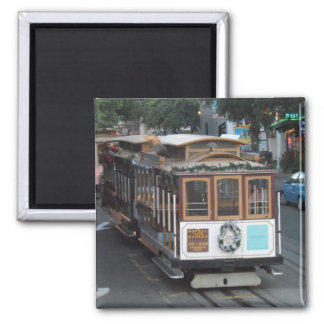 San Francisco Cable Car 2 Inch Square Magnet
