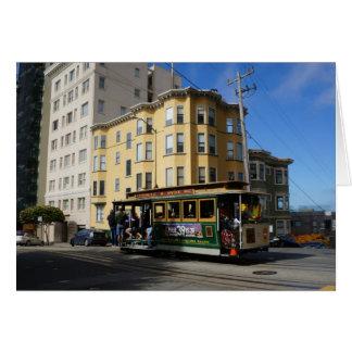 San Francisco Cable Car #4 Card