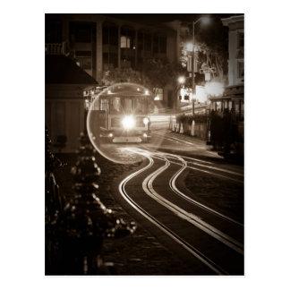San Francisco Cable Car at Night Postcard