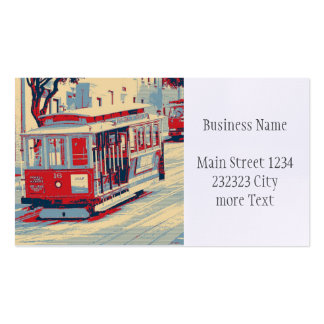 San Francisco,cable car Business Card