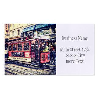 San Francisco,cable car Business Card