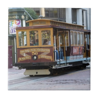 San Francisco Cable Car Ceramic Tile