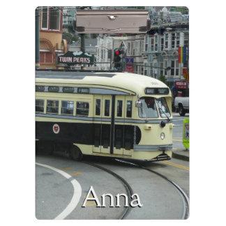 San Francisco Cable Car City Scene Photography Clipboard