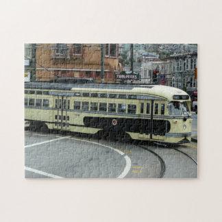 San Francisco Cable Car City Scene Photography Jigsaw Puzzles