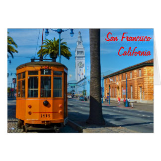 San Francisco Cable Car & Ferry Building Card