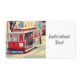 San Francisco,cable car Label