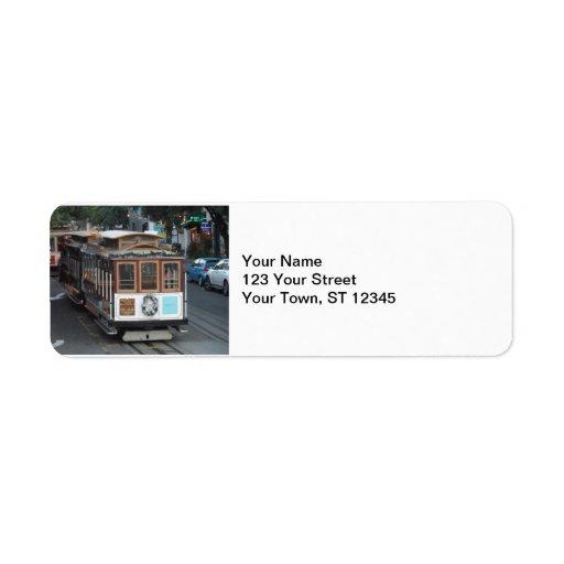 San Francisco Cable Car Return Address Labels
