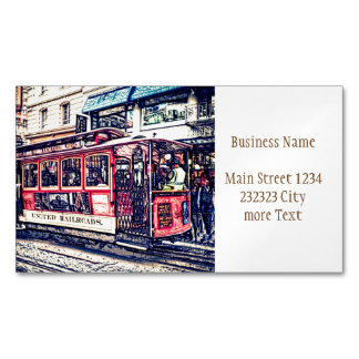 San Francisco,cable car Magnetic Business Card