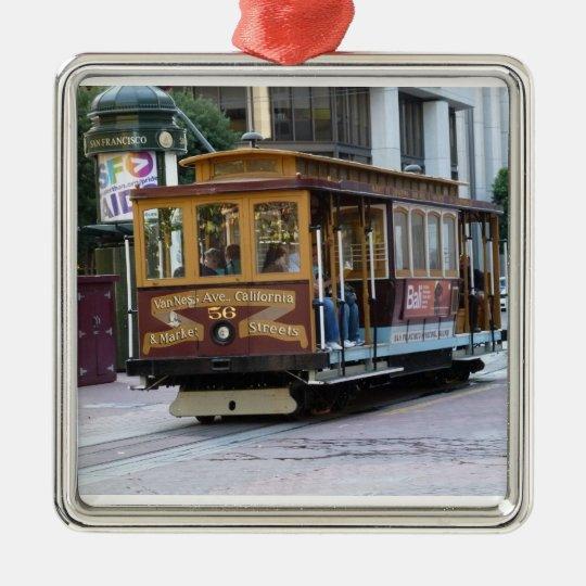 San Francisco Cable Car Metal Ornament