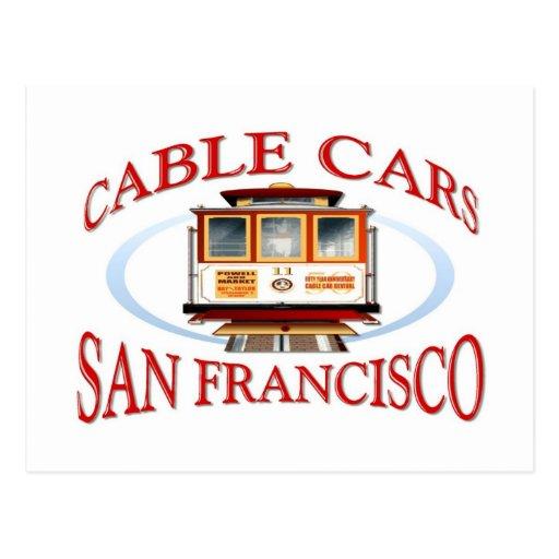 San Francisco Cable Car Post Card