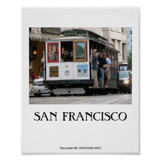 San Francisco Cable Car Poster! Poster