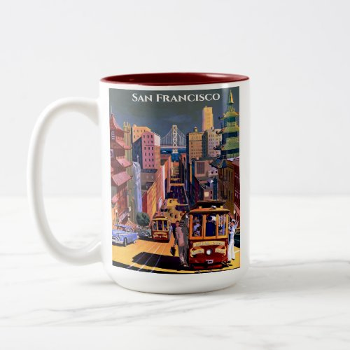 San Francisco Cable Car Retro Vintage