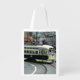 San Francisco Cable Car Reusable Grocery Bag