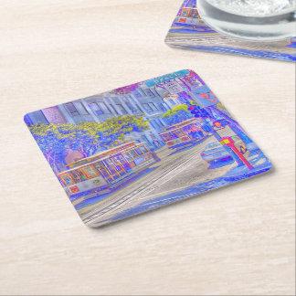 San Francisco,cable car Square Paper Coaster