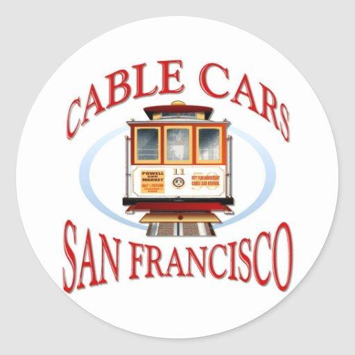 San Francisco Cable Car Stickers
