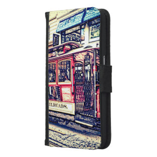 San Francisco,cable car Wallet Phone Case For Samsung Galaxy S6