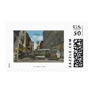San Francisco, CACable Car Turnaround View Postage