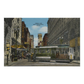 San Francisco, CACable Car Turnaround View Poster