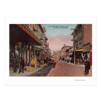 San Francisco, CADirt Road View of Chinatown Postcard