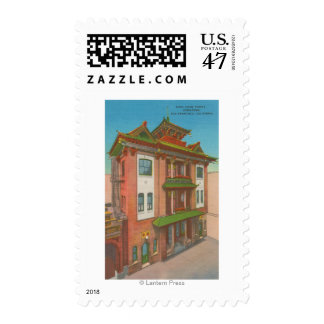 San Francisco, CAKong Chow Temple in Chinatown Postage
