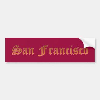 San Francisco Etiqueta De Parachoque