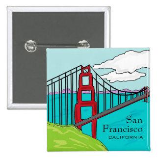 San Francisco Cali golden gate bridge button