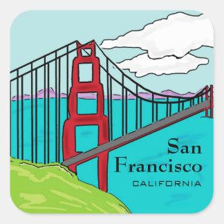 San Francisco Cali golden gate bridge stickers