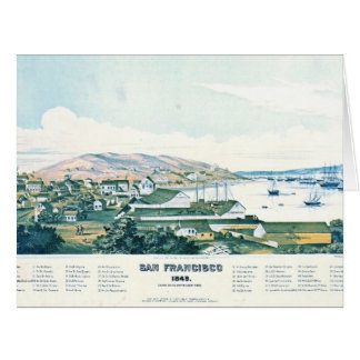 San Francisco California 1849 Card