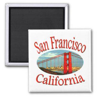 San Francisco California 2 Inch Square Magnet